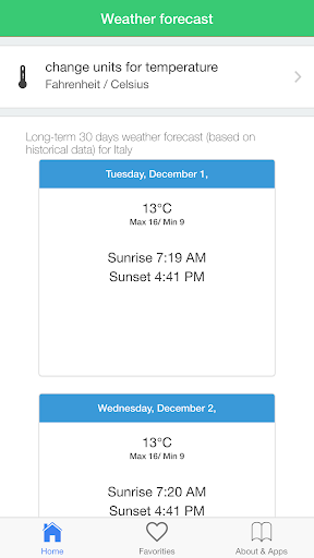 玩免費天氣APP|下載意大利天气预报气候旅游指南 app不用錢|硬是要APP