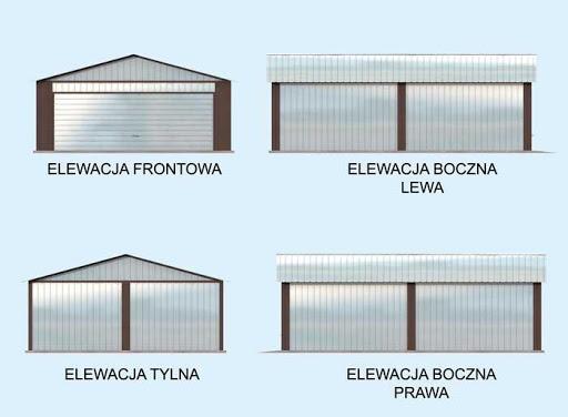 GB15 Garaż Blaszany - Elewacje