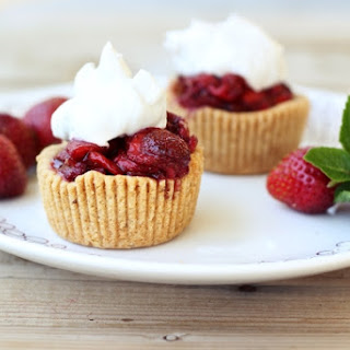 Gluten-Free Vegan Roasted Balsamic Strawberry Tarts with Whipped Coconut Cream