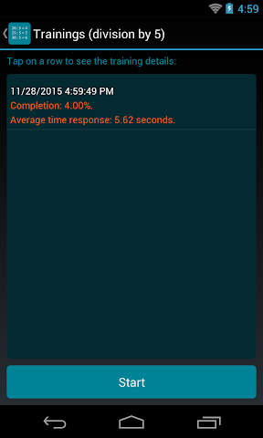 android Division Table Screenshot 3