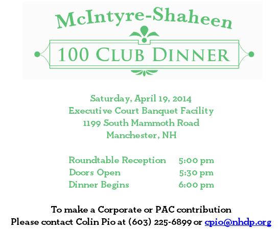 McIntyre-Shaheen Dinner