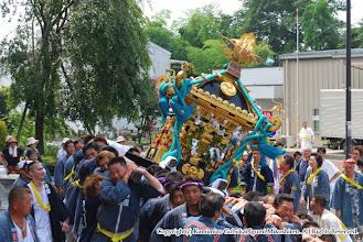 Photo: 【平成20年(2008) 本宮】  本久 コスモスセンターでの神輿もみ。