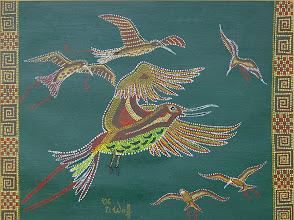 Photo: Paradiesvögel, Acryl, 2006