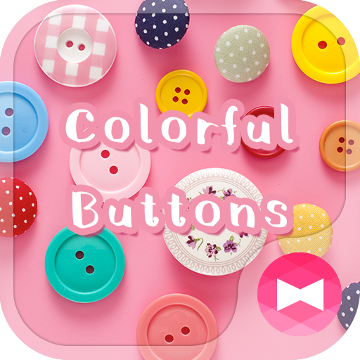 Cute Wallpaper Colorful Buttons Theme Icon