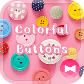 Cute Wallpaper Colorful Buttons Theme