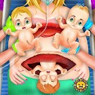 Triplet Baby Birth Mom Pregnant Surgery Simulator icon