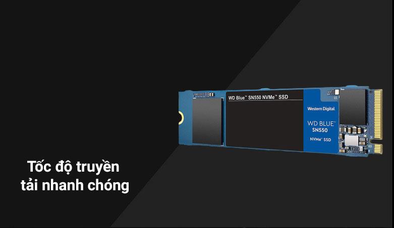 Ổ cứng SSD WD Blue SN550 1TB M.2 2280 NVMe Gen3 x4 (WDS100T2B0C) | Tốc độ truyền tải nhanh chóng