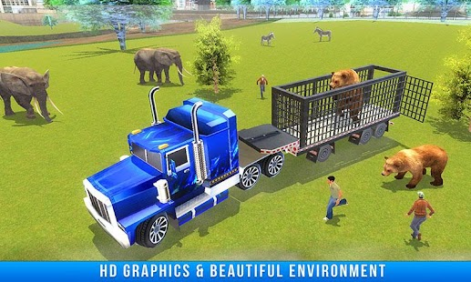 3D Zoo Animal Truck Transport - náhled