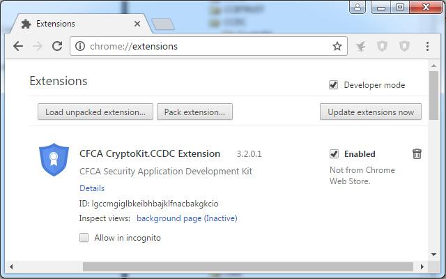 CFCA CryptoKit.CCDC Extension