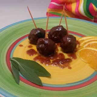 Cranberry Orange Mini Meatballs.