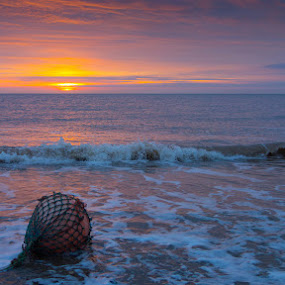East Coast Dawn by Dave Tucker - Landscapes Beaches ( east coast dawn  east yorkshire )