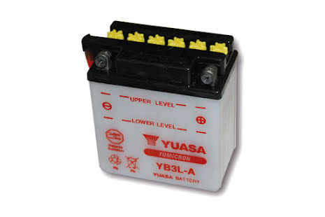 YUASA MC-batteri YB 3L-A utan syrapack