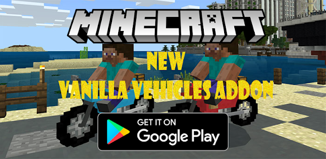 Vanilla Vehicles addon MCPE