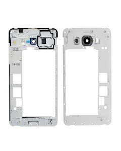 Galaxy J7 2016 Middle Cover + Camera Lens Black