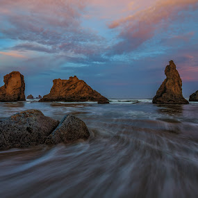 Southern Oregon by Zach Blackwood - Landscapes Sunsets & Sunrises ( sunset, ocean, sunrise, southern oregon, coast )