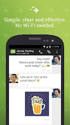 SMS from Android 4.4 with Caller ID APK screenshot thumbnail 1