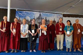 Photo: Closing Ceremony of the 14th Sakyadhita Conference in   Indonesia. Photos courtesy of Olivier Adam