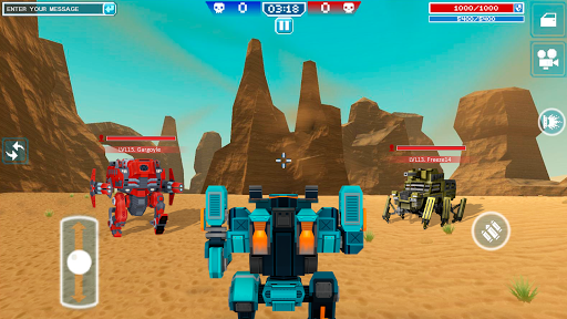 Blocky Cars - Shooting games, robo wars android2mod screenshots 21