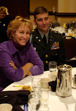 Photo: Col. Eric Ahlness, Government Relations for the Minnesota National Guard, and his guest participates in the 23rd Annual Nordic Thanksgiving Breakfast.  Friends, family, distinguished guests and visitors participated in the 23rd Annual Nordic American Thanksgiving Breakfast at the Bloomington Sherton Hotel on Nov. 20th, 2007.  Sons of Norway founded this event to have Nordic communities celebrate common values and enjoy their shared heritage.