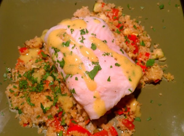 Steamed Flounder With Vegetable Couscous Recipe