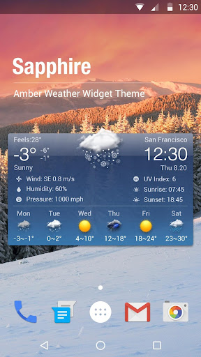 Free Weather Forecast & Clock Widget 15.1.0.45734_45920 screenshots 1