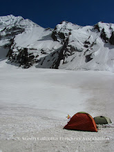 Photo: Camp-II (16,852 ft) on the ice-field of Changuch