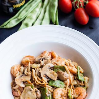 Shrimp and Vegetable Fried Noodles