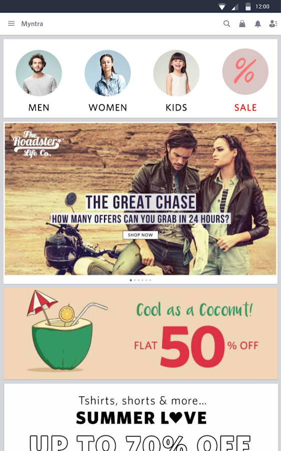 Myntra in online shopping