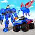 Flying Elephant Robot Transform Monster Truck Game