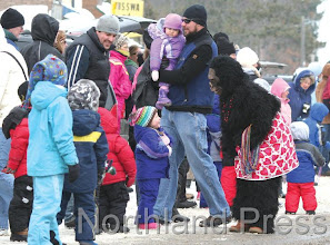 Photo: The gorilla was popular among the younger set during the Nisswa  Winter Jubilee parade - photo by Paul Boblett