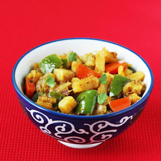 Aloo Capsicum Recipe – Dry Aloo Capsicum Curry Recipe