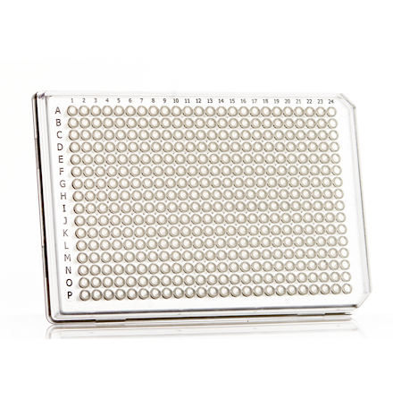 FrameStar® 480, 384well, clear frame white wells - 50 plates