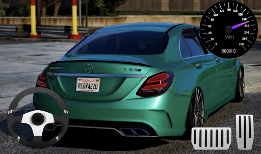 Parking Mercedes C63 AMG City Drive 1.0 screenshots 2