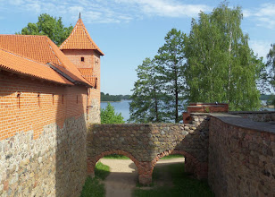 Photo: A dry outer moat separates the main castle from the outer courtyard.