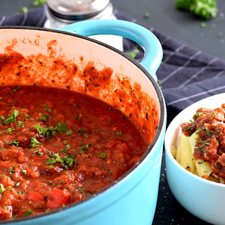 Sausage and Pepper Pasta Sauce.