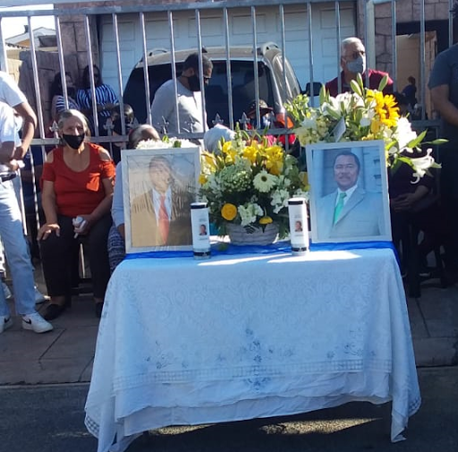 Mourners gather for memorial
