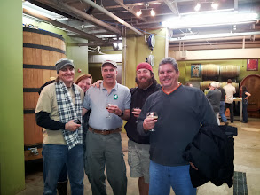 Photo: Spike Buckowski, The Beer Wench, Phil Farrell, Charlie Meers and Thel Melton at Anchorage Brewing.