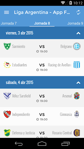 Liga Argentina - App Futbol