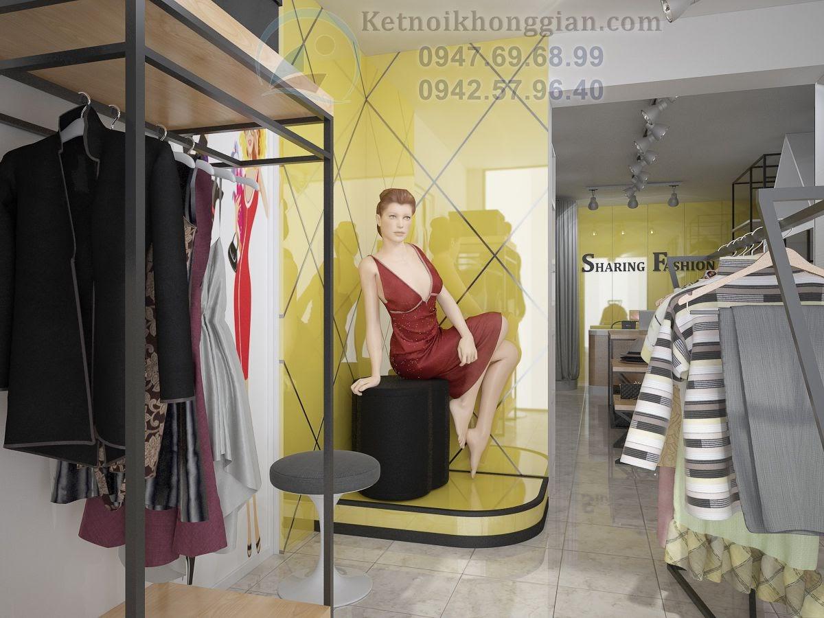 thiết kế shop quần áo nữ tại thành công