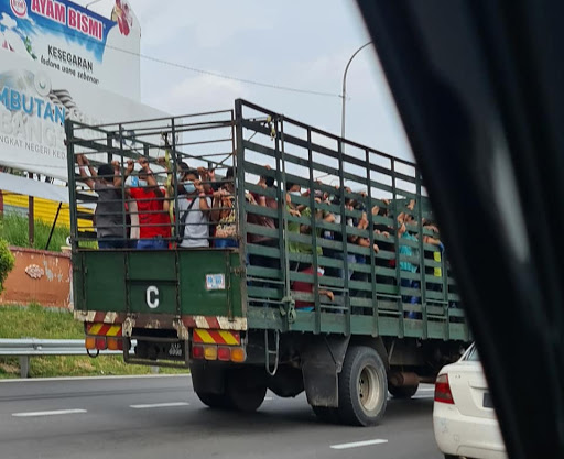 """""""They're not cows or chickens!"""" M'sians Enraged After Seeing Foreign Workers 'Caged' In Lorry"""