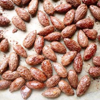 Cinnamon & Maple Roasted Almonds (paleo, GF).