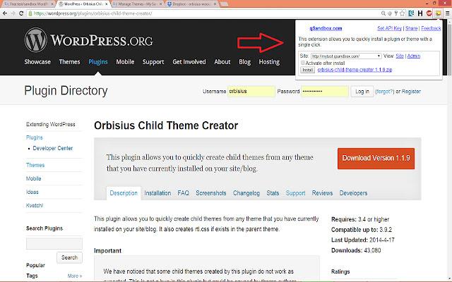 qSandbox - Quick test/sandbox WordPress site