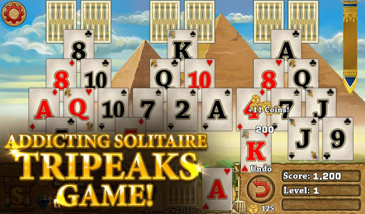 3 Pyramid Tripeaks Solitaire - Free Card Game ss1
