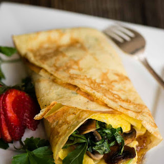 Savory Breakfast Crepes with Bourbon Bacon Jam.