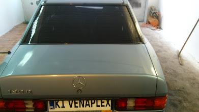 Photo: Mercedes 190 D klasyk folia średniociemna Euro Film  przyciemnianie oklejanie foliwanie szyb małopolska venaplex.pl