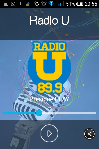Radio U: captura de pantalla
