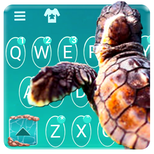 Turtle Blue Sea Keyboard Theme Icon