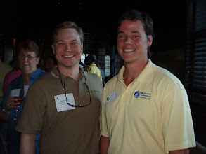Photo: SBA Loan Expert, Sean Filley, with one of Mercantile Capital Corporation's guests. www.504Experts.com