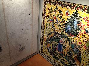 Photo: La Creation de l'homme, carton et tapisserie