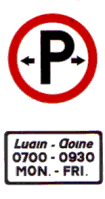 Parking permitted Regulatory Traffic Sign